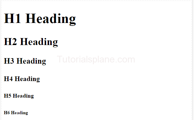 Html headers examples