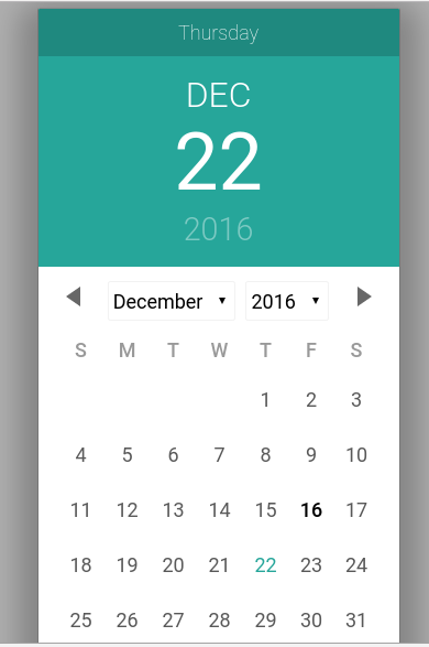 Materialize Date Picker Example