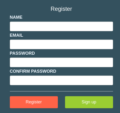 register templates free download