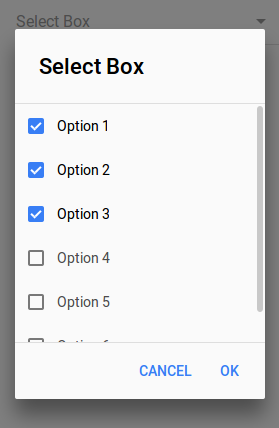 Ionic 2 Multiple Select Dropdown