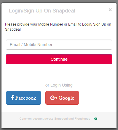 Snapdeal Style Login Page For E-Commerce In BootStrap | Template