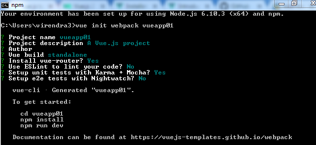 Vue Js Installation implements all steps how to install vue