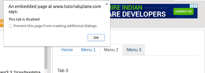Bootstrap disable tabs